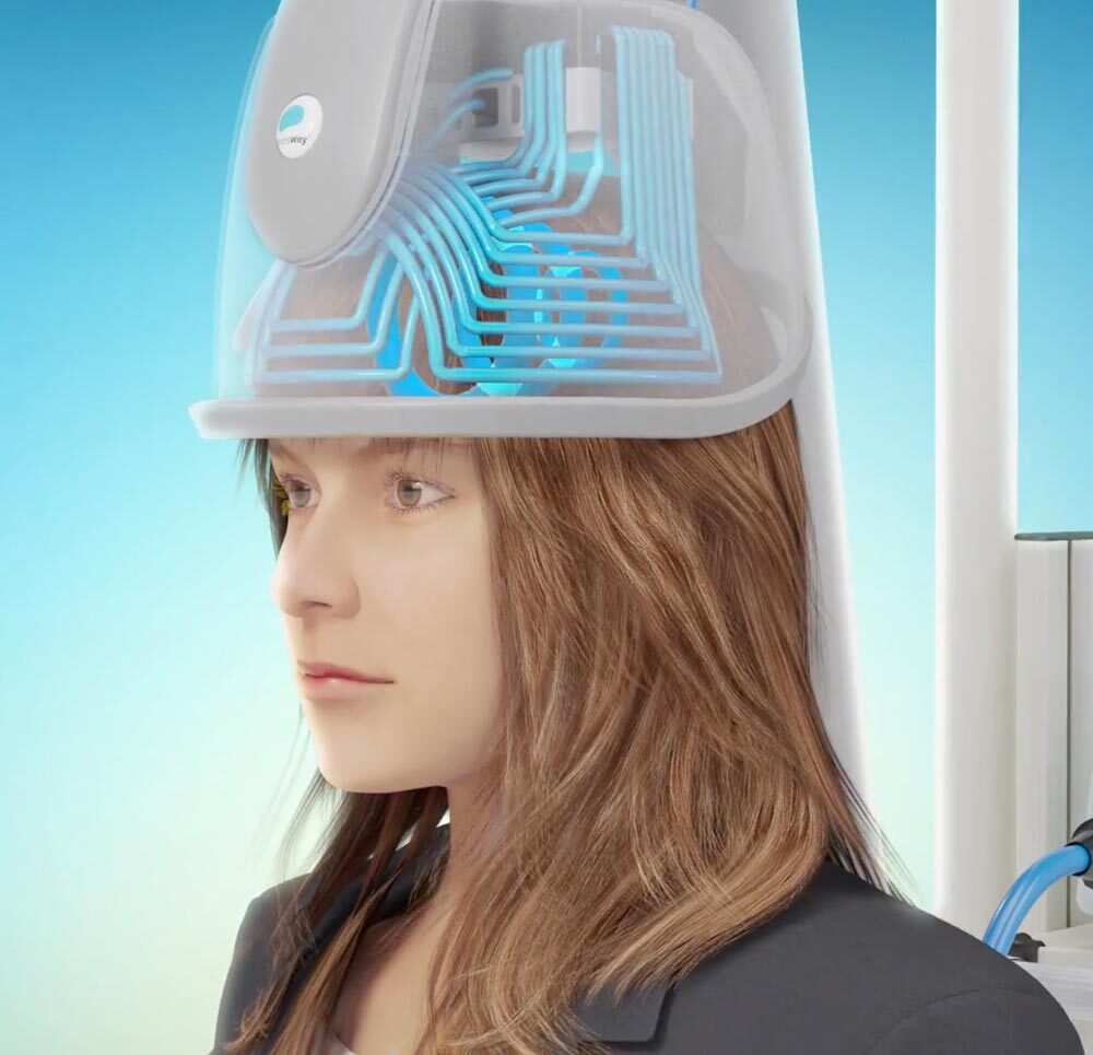 Woman undergoes Deep TMS Therapy